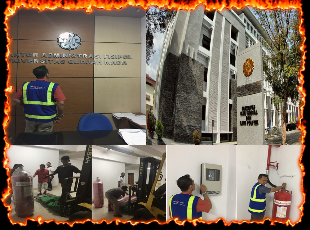INSTALASI FIRE SUPPRESSION SYSTEM - NOVEC 1230 - UNIVERSITAS FISIPOL UGM - YOGYAKARTA