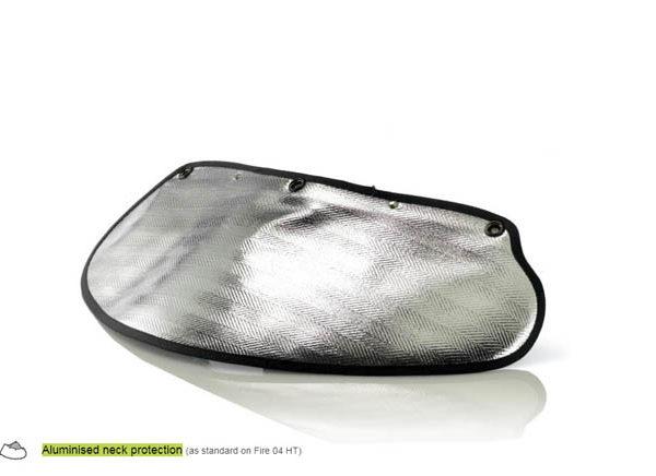 Aluminised neck protection