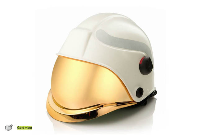 Gold visor