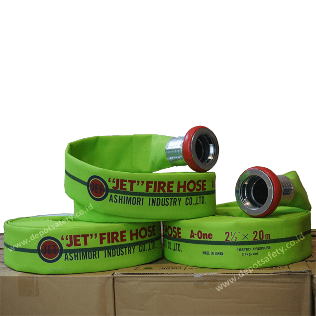 Ashimori JET FIRE HOSE A-ONE 2.5 Green