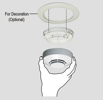 ROR plus Fixed Temperature Combo Heat Detector HC-307D Instalation