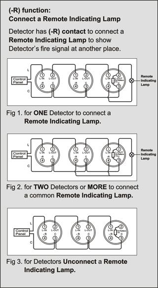 ROR plus Fixed Temperature Combo Heat Detector HC-307D Wiring Diagram